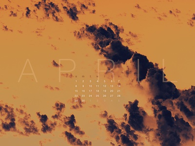 April 2018 download clouds nature sony a7 28-70mm photography wallpaper calendar