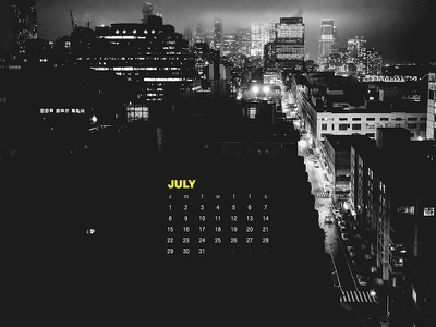 July 2018 city nyc photography download wallpaper calendar