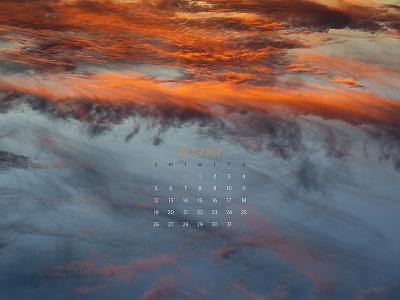 August 2018 sunset sky calendar wallpaper download photography