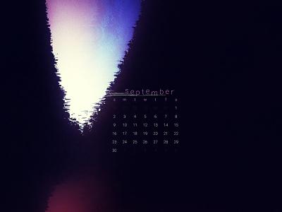 September 2018 download wallpaper abstract calendar