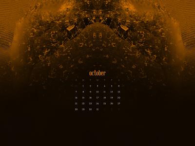 October 2018 abstract download calendar wallpaper