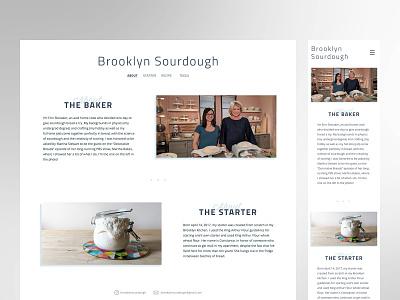 Brooklyn Sourdough bakery bread flexbox development ui design web design