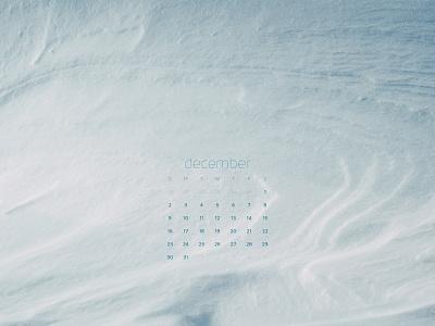 December 2018 snow photograph download calendar wallpaper