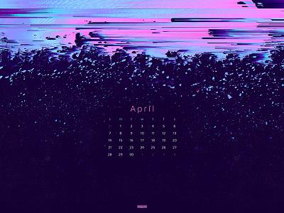 April 2019 glitch abstract 4k wallpaper download calendar wallpaper