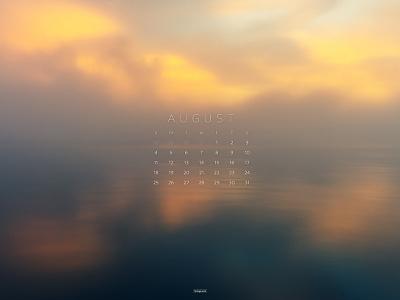 August 2019 sunset 4k photograph download calendar wallpaper