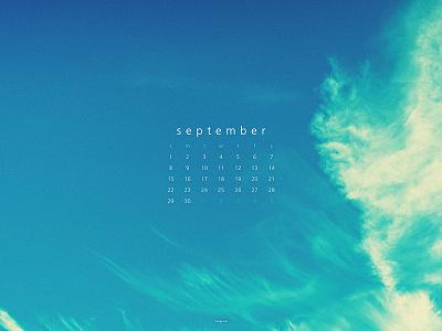 September 2019 sky 4k clouds photograph download calendar wallpaper