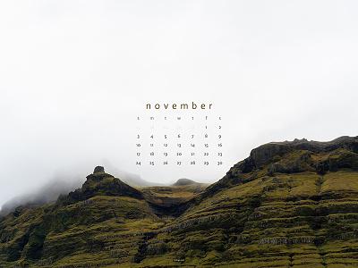November 2019 4k mountain iceland photograph download calendar wallpaper