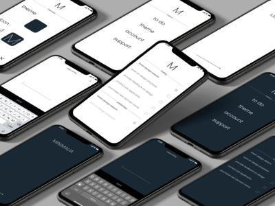 Minimalia - minimalistic & distraction free todo list