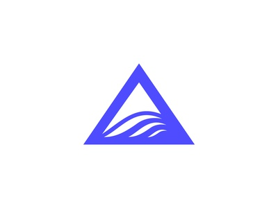 Triangle + wave logo