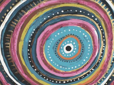 Eye Spiral handmade acrylic pattern art pattern a day patterns pattern painting patterndesigner evil eye