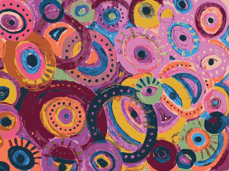 Evil Eyes <3 evil eye art acrylic vector patterndesigner handmade patterns pattern patterndesign painting