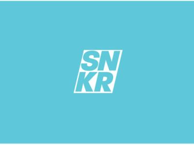 SNKR. Sneaker logo