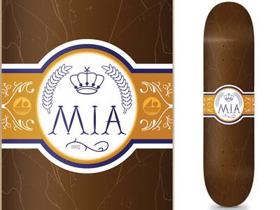 MIA Skateshop Cigar Deck mia miami skateshop skateboard deck cigar vintage skate cuban label