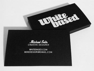 Personal Business Cards whitebased card business cards screen print black white