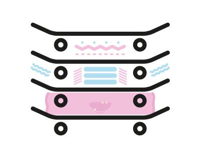 Skate Monsters character avatar graphic art flat illustration vector monster monsters skateboarding skateboard 2d