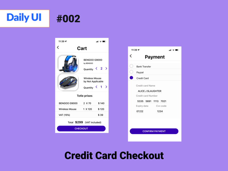 Credit Card Checkout dailyUI002 daily 100 challenge 002 daily dailylogochallenge dailyui