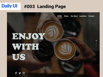 landing Page dailyUI003 daily 100 challenge 003 daily ui dailylogochallenge dailyui
