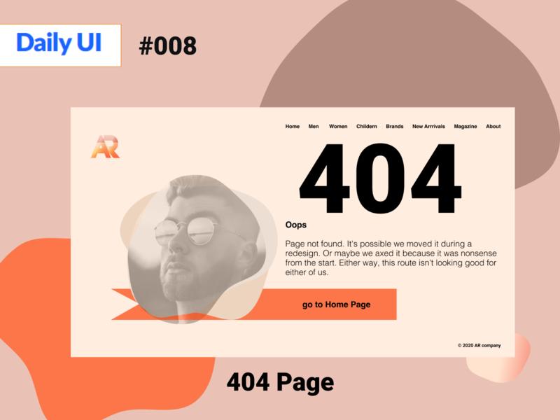 Page 404  #dailyUI008 008 daily ui daily dailylogochallenge daily 100 challenge dailyui