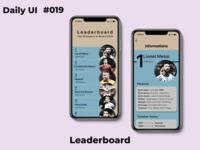 Leaderboard #dailyui_019 019 dailyui daily ui daily design ui dailylogochallenge daily 100 challenge
