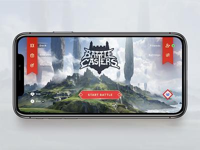 Battle Casters game magic figma mobile design game design design ux ui card game video game