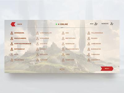 Battle Casters - Friends figma mobile design design game design ux ui friends list card game video game