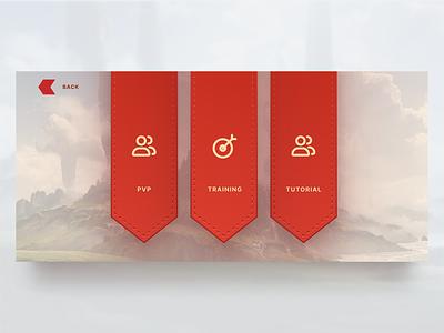 Battle Casters - Battle Options video game ux ui mobile design game design figma design card game