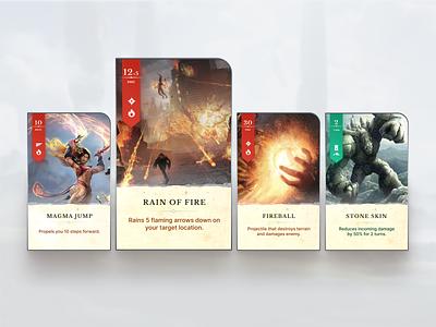 Battle Casters - Card Design player card video game card design figma design card game