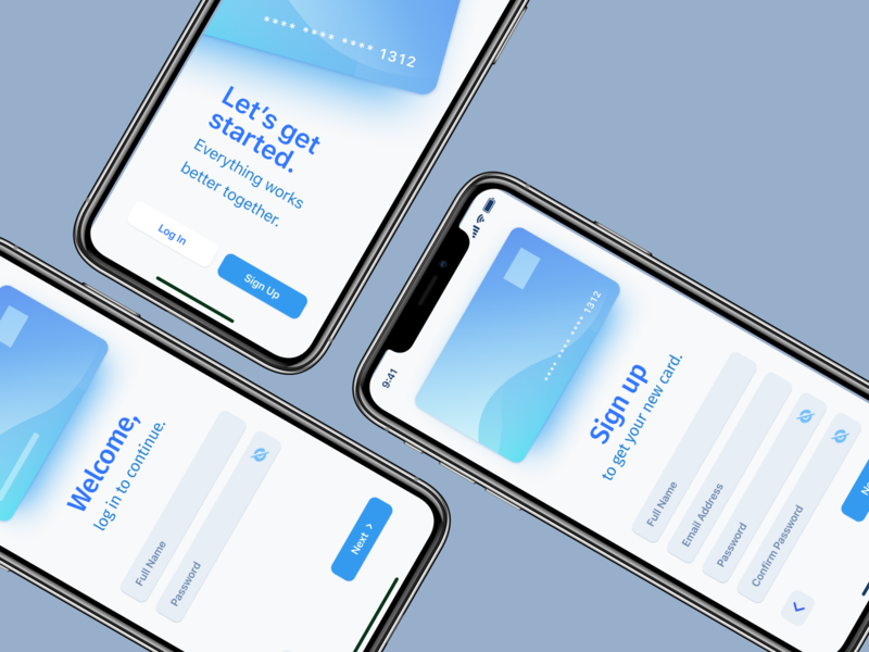 Sign Up Form - mobile screens finance banking ui mobile design figma design