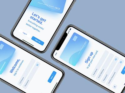 Sign Up Form - mobile screens finance banking ui mobile design figma design