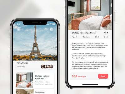 Travel App booking airbnb travel mobiledesign uidesign ui