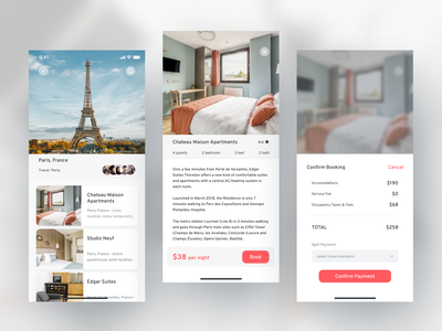 Travel App - Booking Rooms payment appdesign travel airbnb booking branding mobile design ui figma design