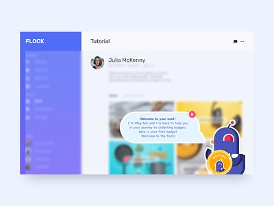 Flock - Nest Tutorial app design web app vector typography branding illustration ui figma design