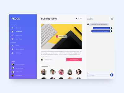 Flock - Featured Challenge adobe typography vector app webdesign branding design figma
