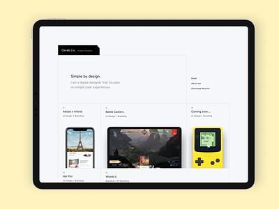 Web Portfolio webdesign portfolio typography branding ui figma design