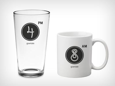 Gravitate Mug & Pint Glass 4 8 mug glass
