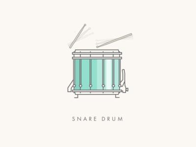 Snare Drum icon graphic design percussion line illustration drum snare