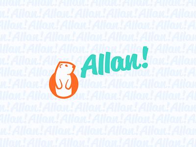 Allan! Allan! Al! Allan! illustration branding animals talking gopher
