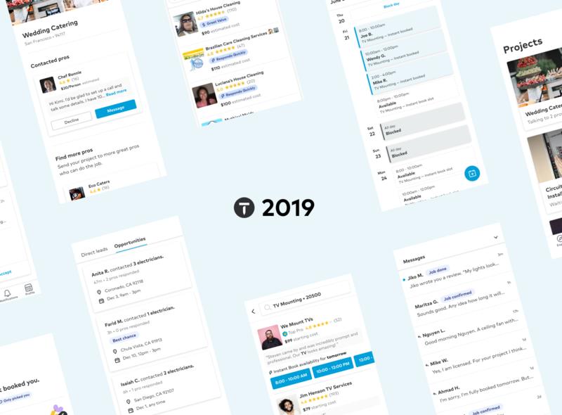 Medium post   Thumbtack Product Design 2019 Highlights product ux design research 2019 product design design ux ui