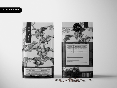 Weekly Warm-Up: Discoffery - Aceh Honey Packaging packaging mockup poster typography illustration logo design logotype logo brand identity identity design identity branding and identity branding concept branding design brand coffee bean pack coffee shop coffee packaging design packaging