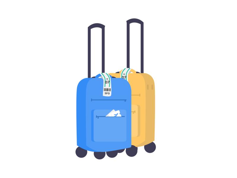 Luggage design app vector inspiration design illustration trip