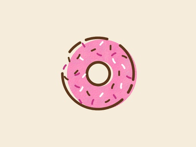 Frosted Donut with Sprinkles homer simpson breakfast sprinkles frosted donut donut