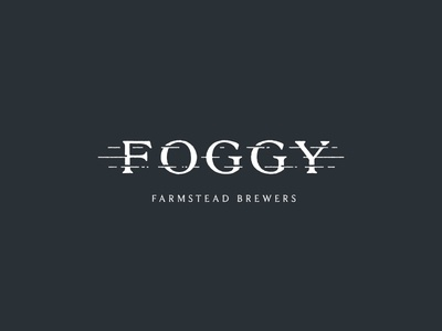 Foggy Farmstead Brewers brewery beer logo type identity design branding brand development