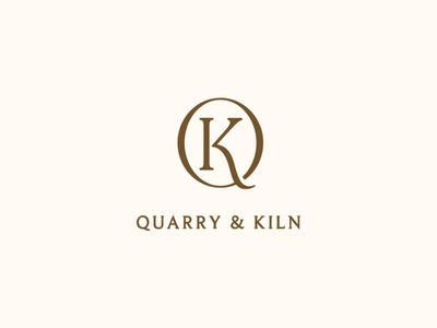 Quarry & Kiln pottery ceramics typography custom type logo branding