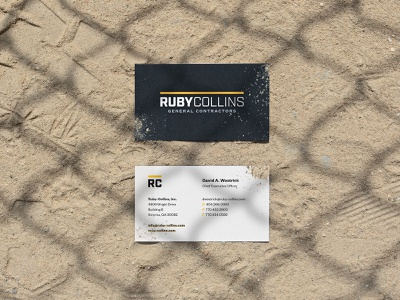 Ruby Collins Inc. print & collateral materials business cards print design ui identity design typography branding logo
