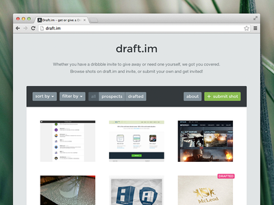 Draft.im v3 is live project draft dribbble web draft.im site design invite