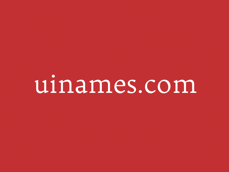 uinames.com uinames names ui experiment site project tool web