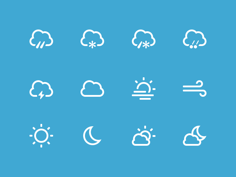 Weather Icons glyphs icons icon set freebie free