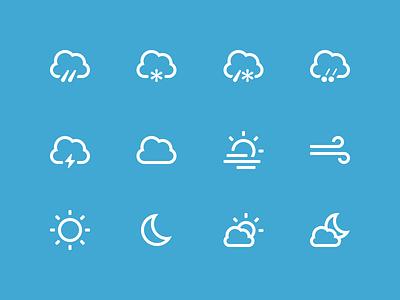 Weather Icons glyphs icons icon set freebie free