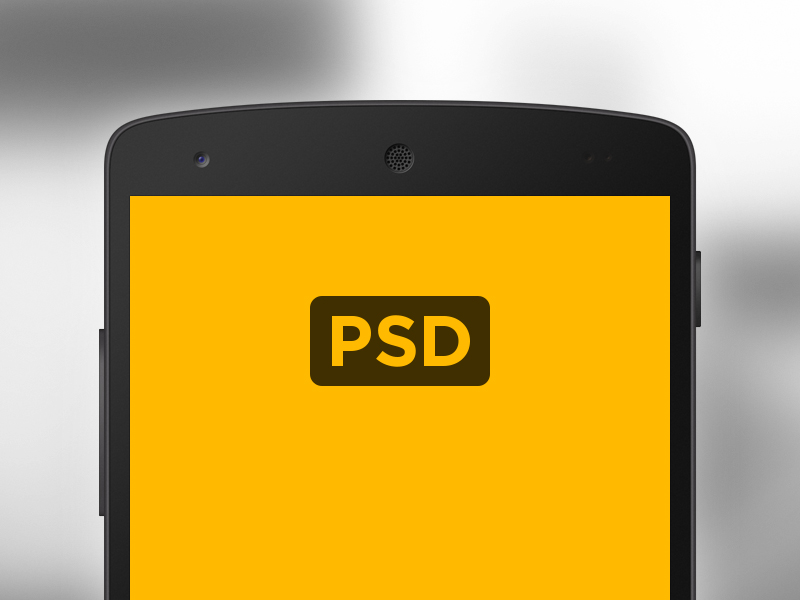 Nexus 5 Mockup vector freebie android mockup nexus device psd phone free template