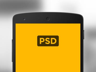 Nexus 5 Mockup vector freebie android mockup nexus device psd phone free template